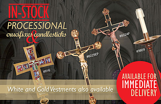 Processional Crucifixes and Candlesticks