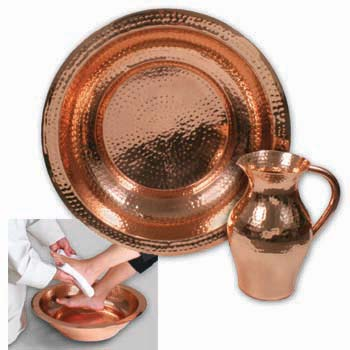 Copper Bowl And Pitcher Set